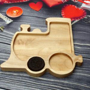 Dřevěná miska mašinka