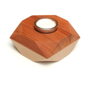 dřevěný svícen diamant
