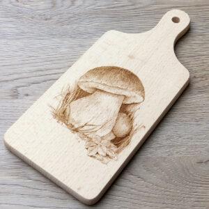 Dekorativní dřevěné prkénko HOUBY